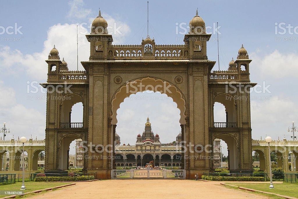Palace of Mysore in India royalty-free stock photo