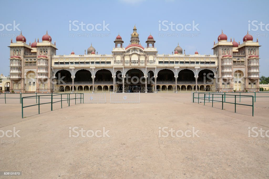 Palace of Mysore stock photo