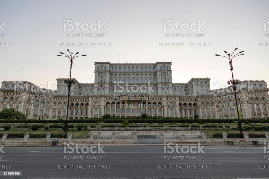 Palace of Parliament in the capital of Romania Bucharest. stock photo