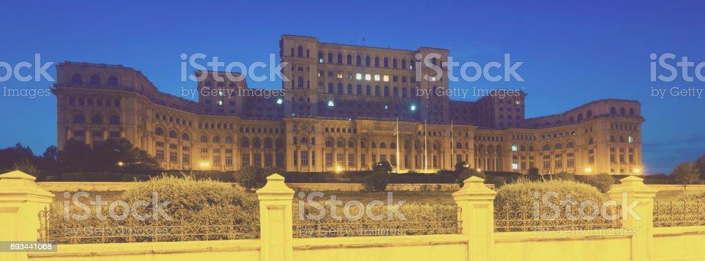 Palace of Parliament, Romania stock photo