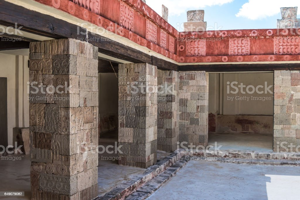 Palace of Quetzalpapalotl stock photo