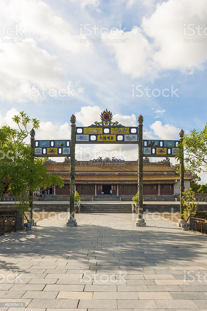 Palace of Supreme Harmony at Citadel royalty-free stock photo