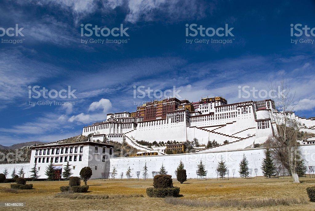 Palace of the Dalaï Lama royalty-free stock photo