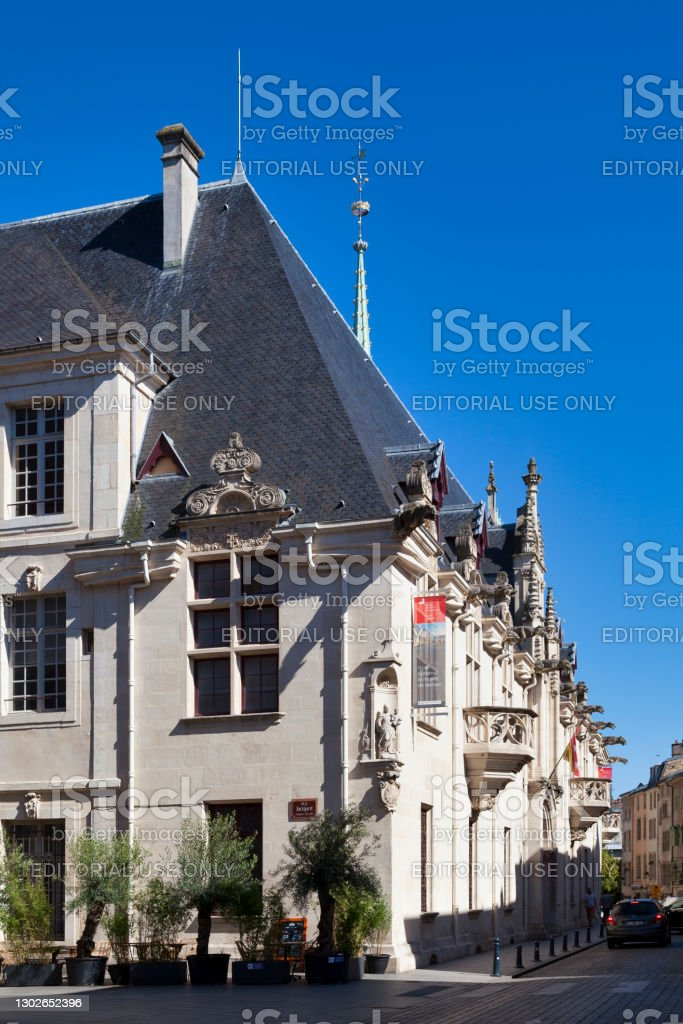 Palace of the Dukes of Lorraine in Nancy Nancy, France - June 24 2020: The Palace of the Dukes of Lorraine is the former home of the Dukes of Lorraine. It is a building built in the Flamboyant Gothic and Renaissance styles currently houses the Lorraine Museum. Architecture Stock Photo