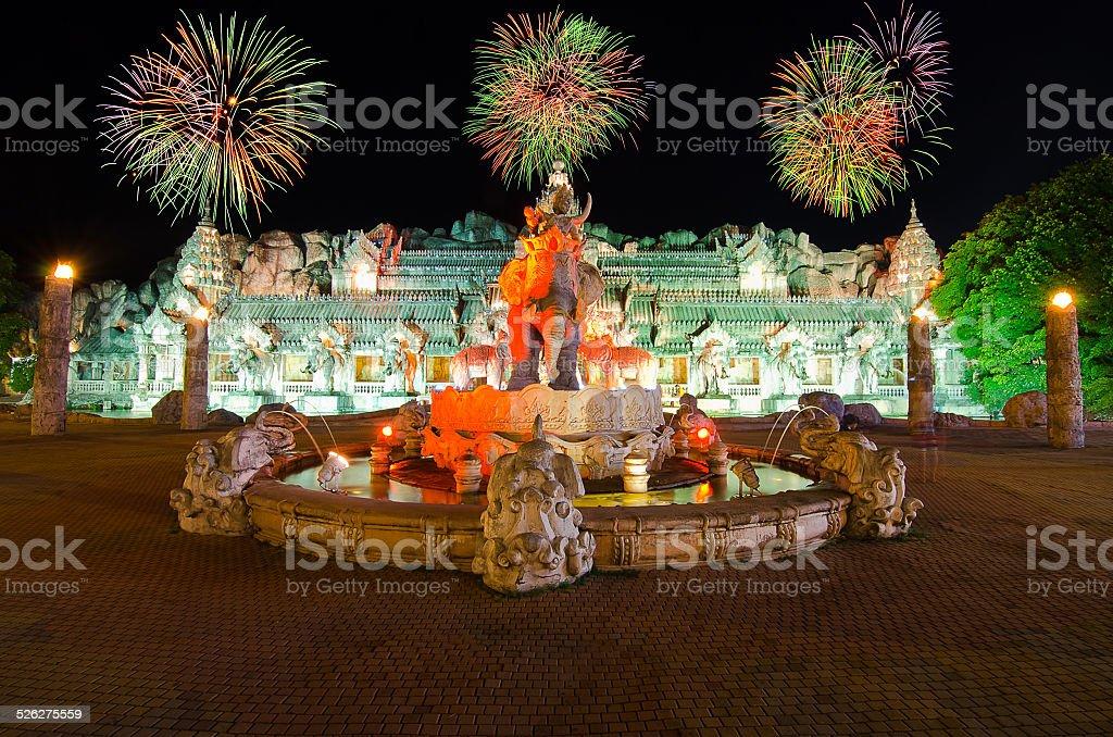 Palace of the elephants in Phuket,Thailand stock photo