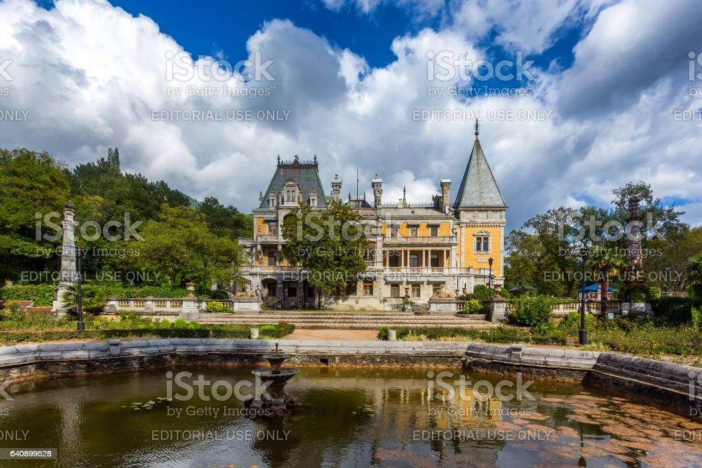 Palace of the emperor Alexander III in Massandra stock photo