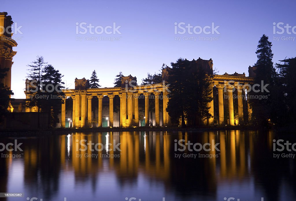 Palace of the Fine Arts in San Francisco, California royalty-free stock photo