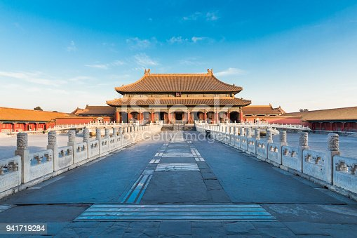 Palace of the forbidden city in Beijing, China