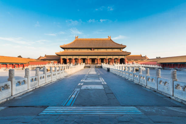 Palace of the forbidden city in Beijing, China Palace of the forbidden city in Beijing, China forbidden city stock pictures, royalty-free photos & images