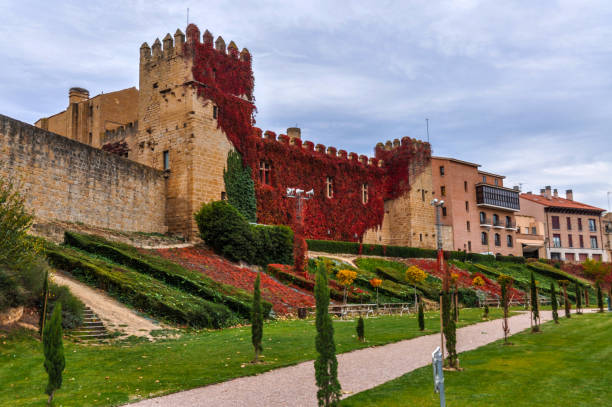 Palace of the Kings of Navarre of Olite stock photo