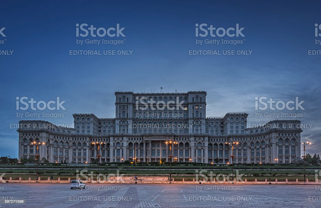 Palace of the Parliament, Bucharest, Romania stock photo