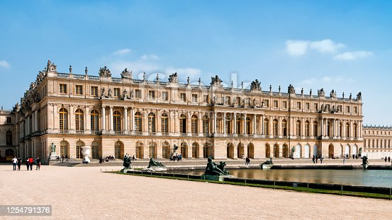 Château de Versailles, near Paris. It was an official residence of the kings of France and is now a World Heritage Site. Versailles, in France. April 30, 2019.