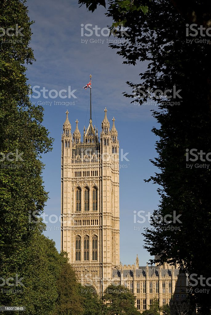 Palace of Westminister, London royalty-free stock photo