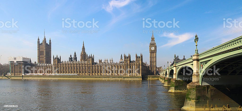 Palace of Westminster and Big Ben stock photo