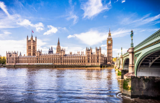 Palace of Westminster, centre of British democracy stock photo
