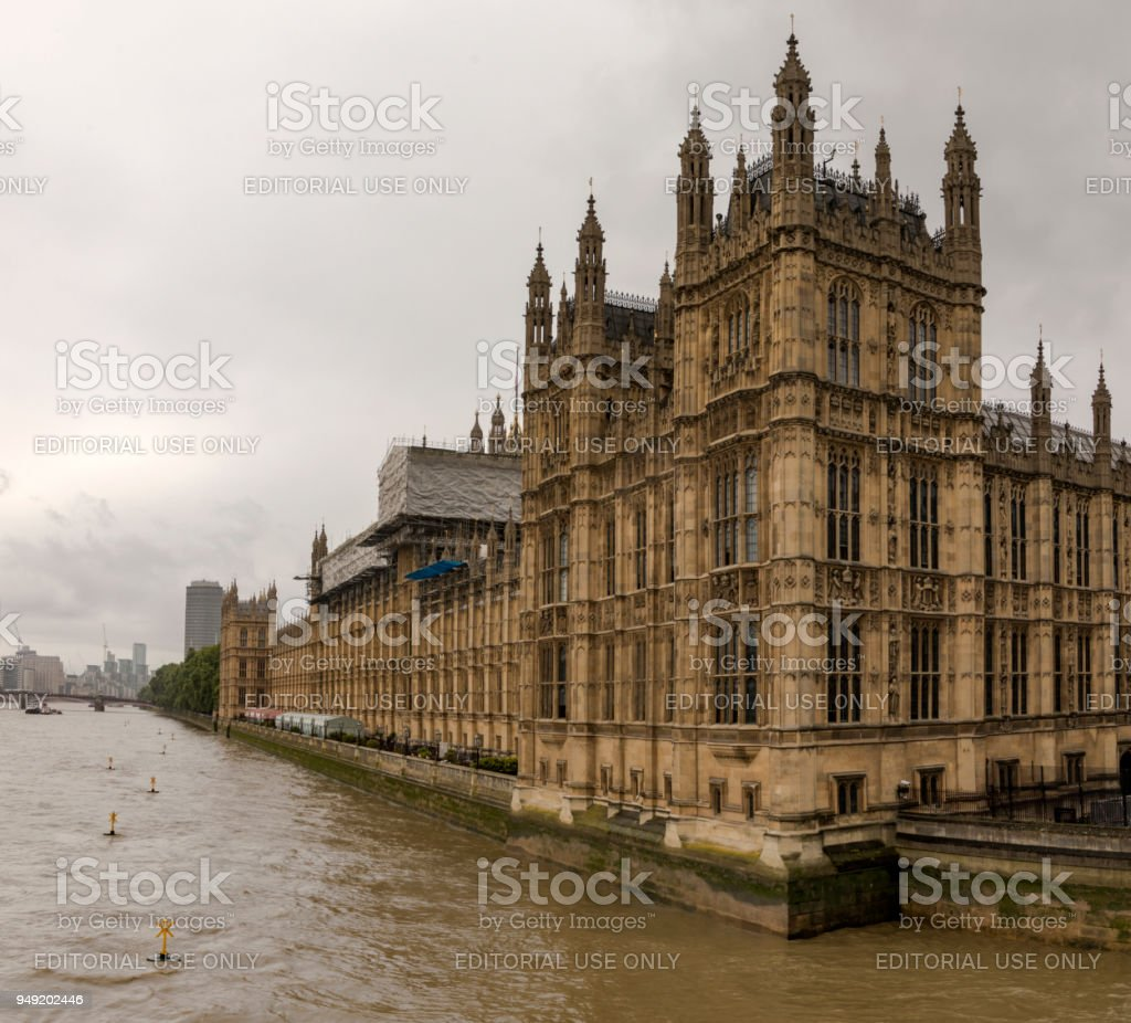 Palace of Westminster House of Lords stock photo