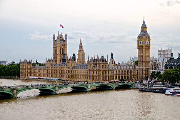 Palace of Westminster - Houses of Parliament and Big Ben stock photo