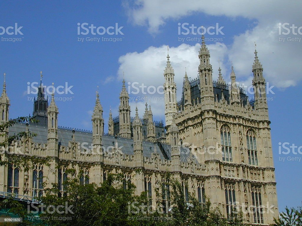 Palace of Westminster: Parliament royalty-free stock photo
