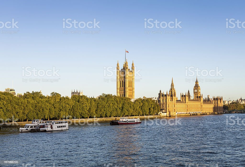 Palace of Westminster with Victoria tower and Big Ben royalty-free stock photo