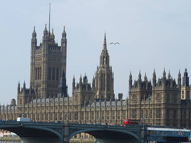 palace of westminster without the clock tower - belkindesign stock pictures, royalty-free photos & images