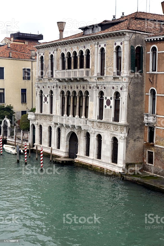 Palace on Grand Canal Venice Italy royalty-free stock photo