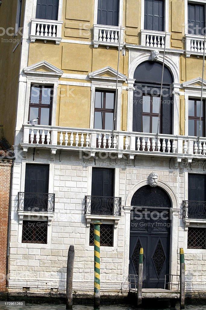 Palace on Grand Canal Venice Italy royalty-free stock photo