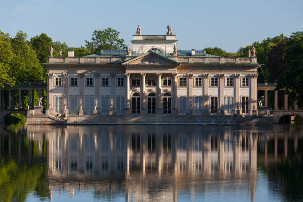 Palace on the Water in Warsaw stock photo