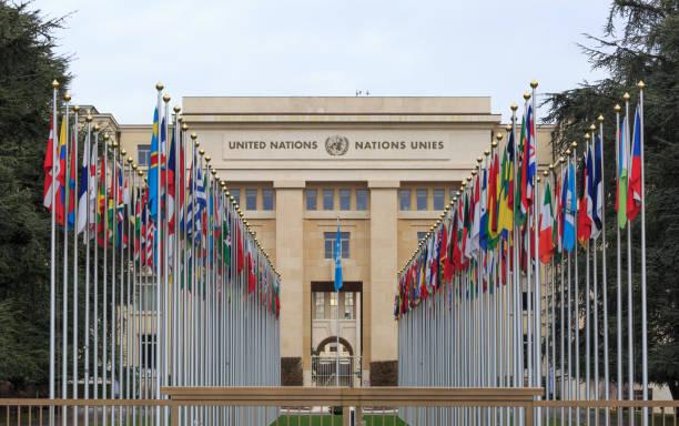 유엔 궁전 - united nations 뉴스 사진 이미지