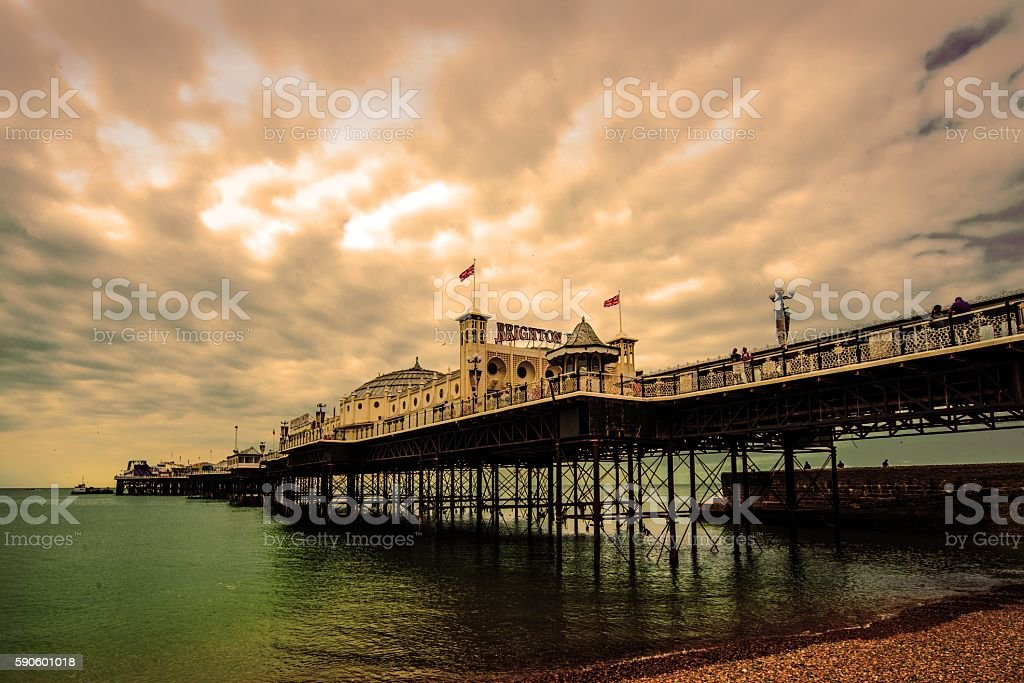 Palace Pier Brighton stock photo