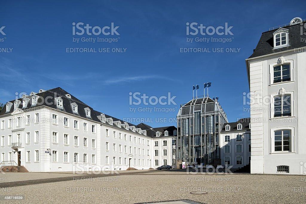 Palace, Schloss, Saarbruecken, Germany stock photo