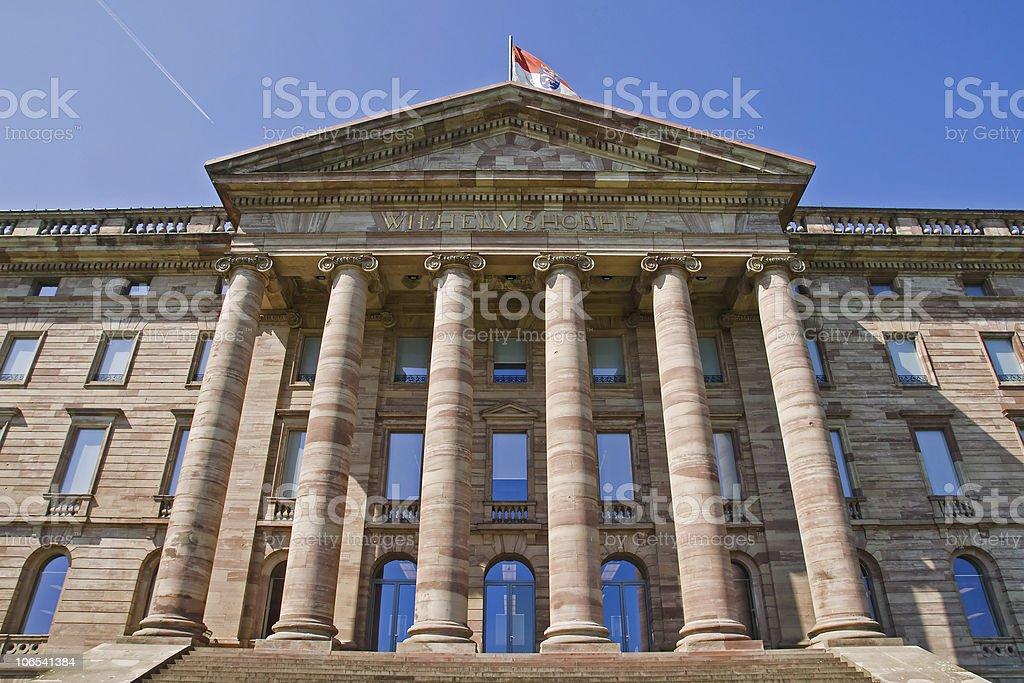Palace Wilhelmshoehe in Kassel stock photo