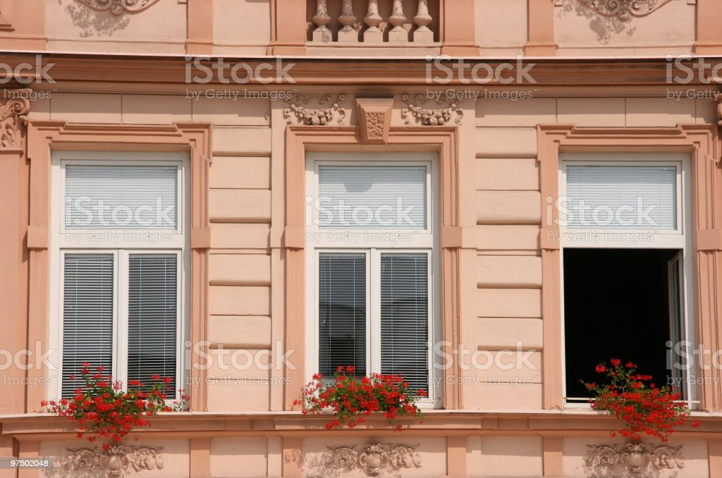 Palace windows royalty-free stock photo