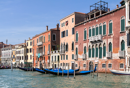 Palaces along the Grand Canal, Venice, Italy