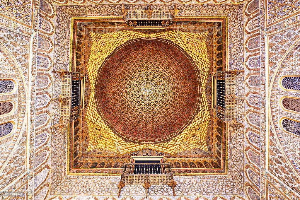 Palacio Alcazares in Sevilla royalty-free stock photo