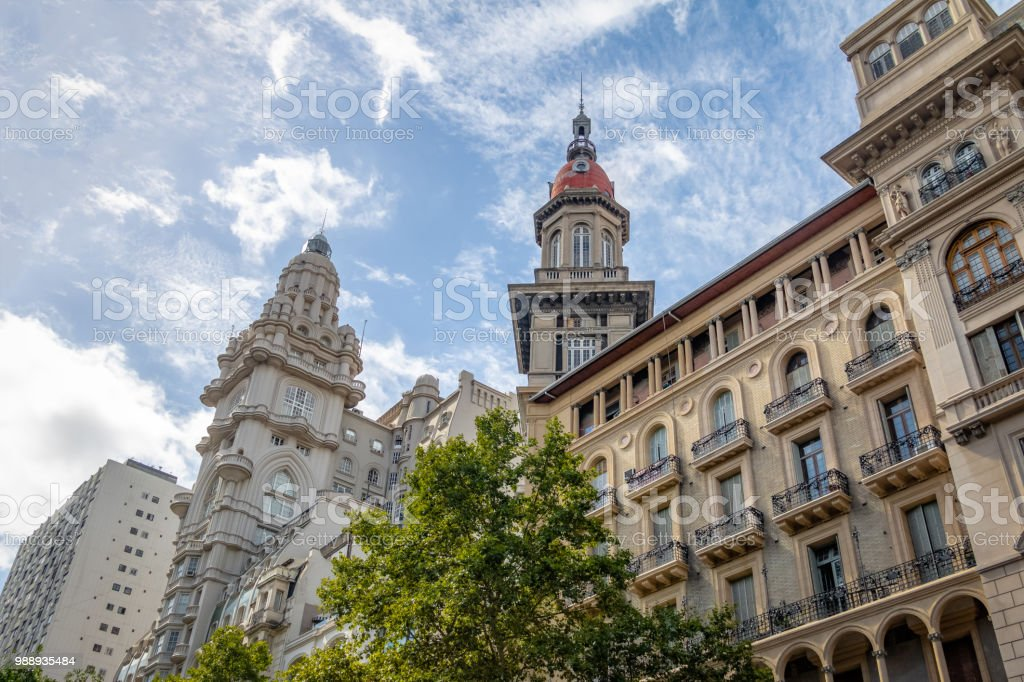 Palacio Barolo (Barolo Palace) and La Inmobiliaria buildings - Buenos Aires, Argentina - foto stock
