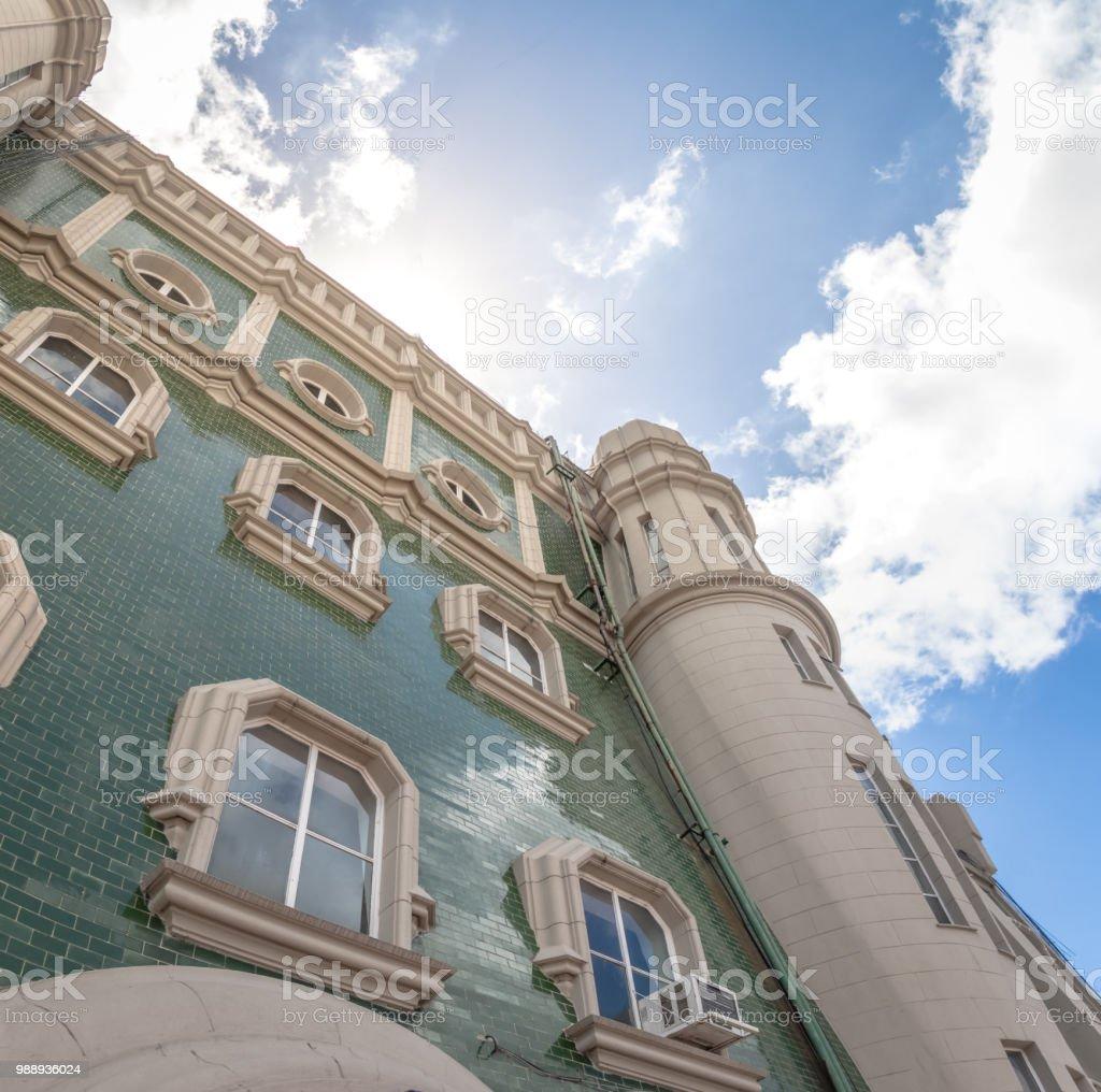 Palacio Barolo (Barolo Palace) Terrace facade - Buenos Aires, Argentina - foto stock