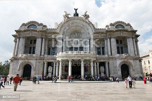istock Mexico City, Mexico - 2011: Palacio de Bellas Artes. 842953522