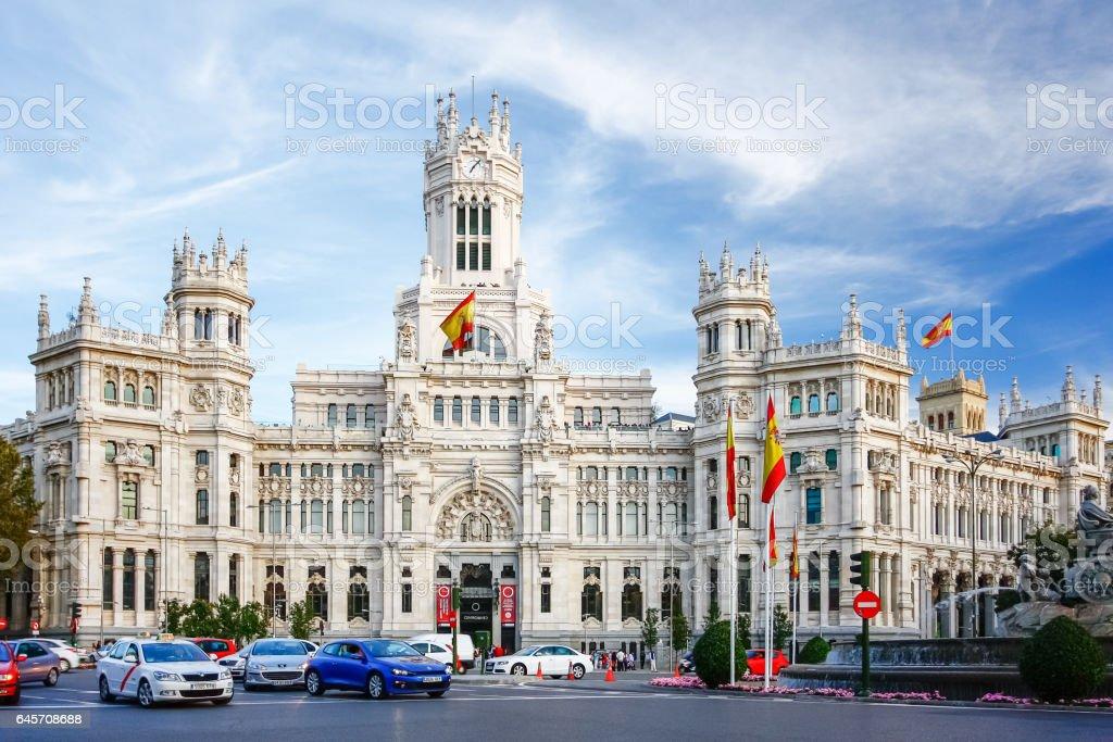 Palacio De Comunicaciones En La Plaza De Cibeles En Madrid
