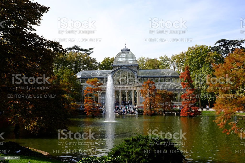 Palacio de Cristal, Parque del Buen Retiro, Madrid stock photo