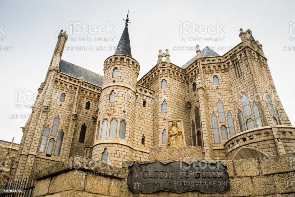 Palacio de Gaudí, Astorga - foto de stock