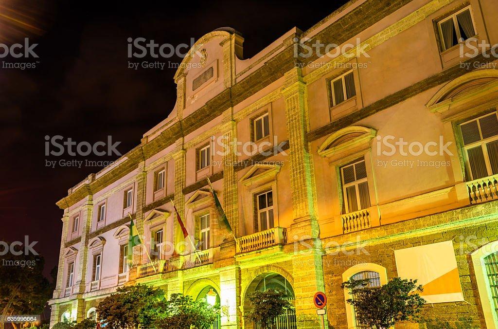 Palacio de la Aduana in Cadiz - Spain, Andalusia stock photo