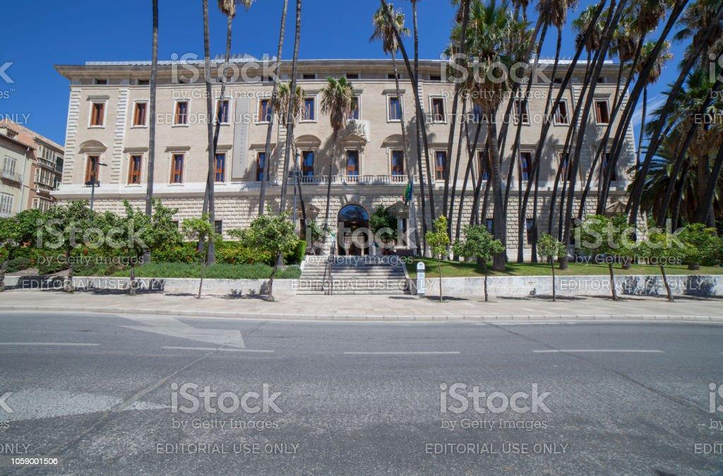 Palacio de la Aduana, Malaga, Spain stock photo