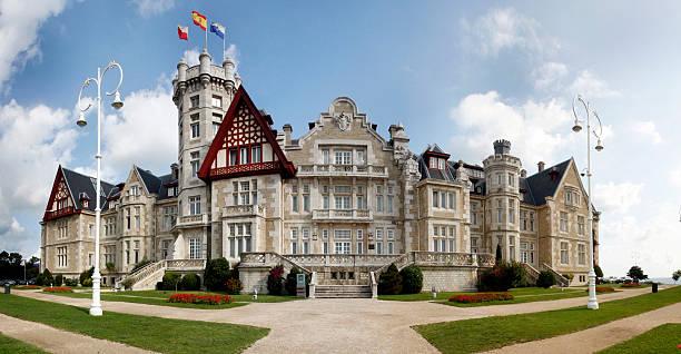 Palacio de la Magdalena Real Palace of Magdalena in Santander Cantabria Spain santander spain stock pictures, royalty-free photos & images