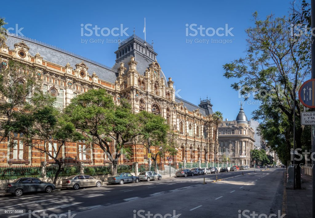 Palacio de las Aguas Corrientes , Water Company Palace - Buenos Aires, Argentina stock photo