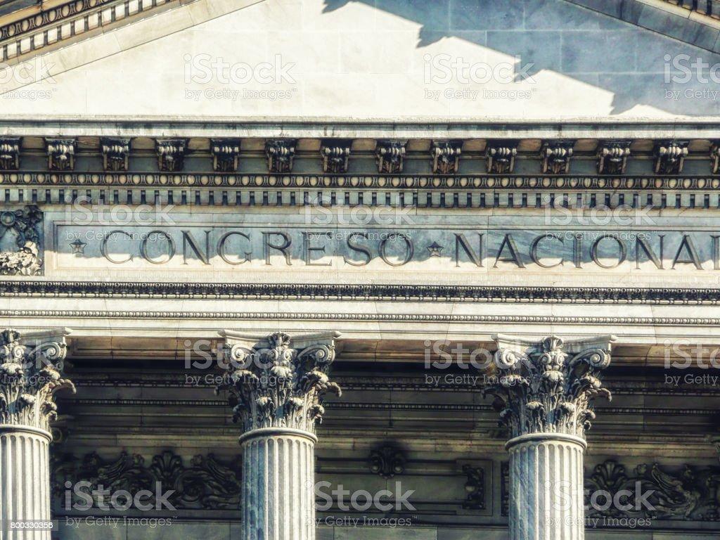 Palacio Del Congreso stock photo