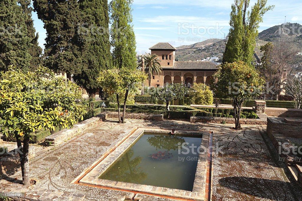 Palacio del Pórtico, Alhambra Palace, Granada, Spain stock photo