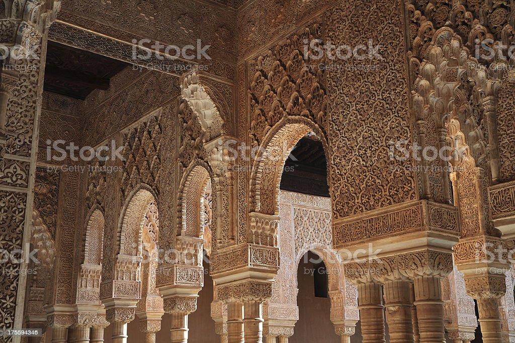 Palacio los Leones, Alhambra Palace, Granada, Spain stock photo
