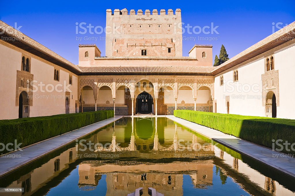 Palacios Nazaries at Alhambra in Granada, Spain stock photo