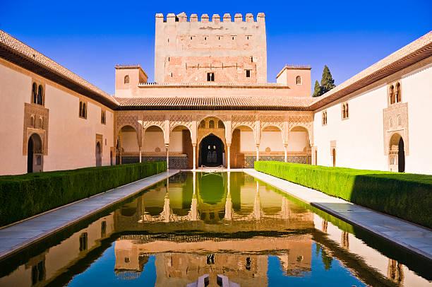 ナザレ宮グラナダでは、アルハンブラ、スペイン - スペイン グラナダ ストックフォトと画像