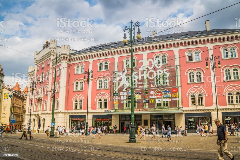 Paladium, Praha stock photo